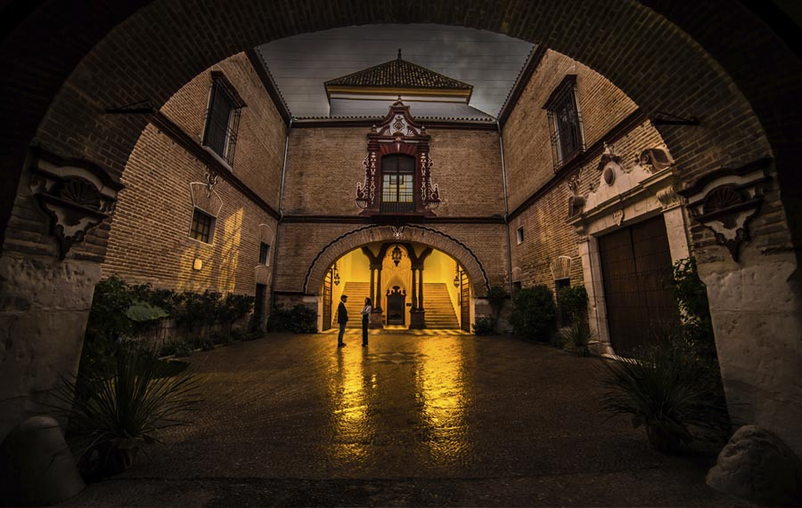 Patio apeadero Palacio Benamejí